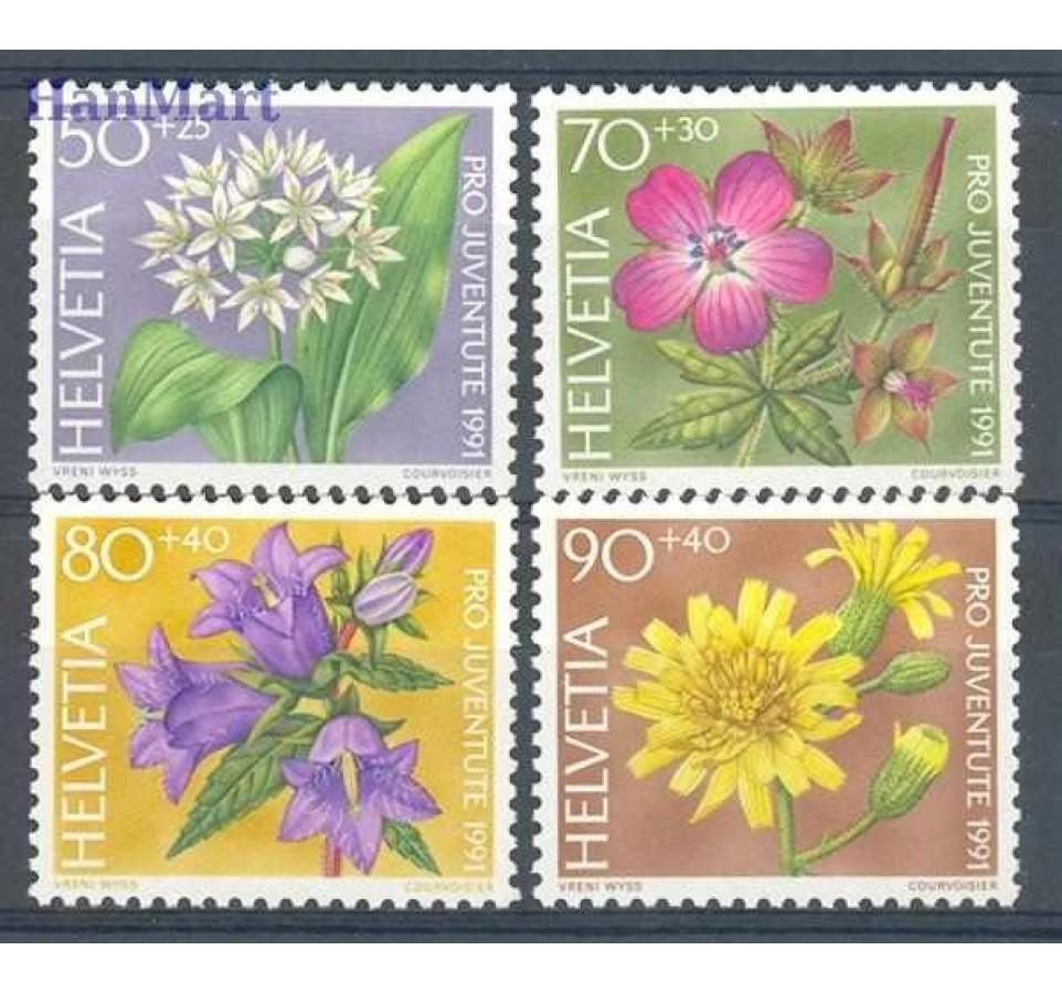 Szwajcaria 1991 Mi 1455-1458 Czyste **