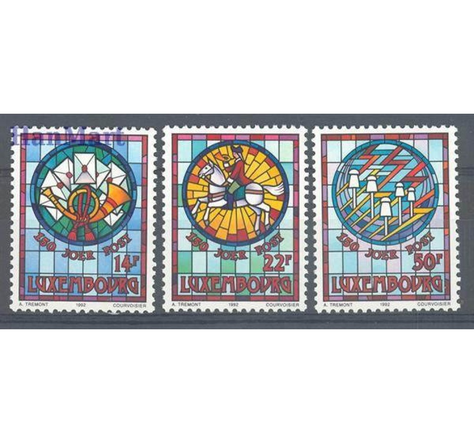 Luksemburg 1992 Mi 1302-1304 Czyste **