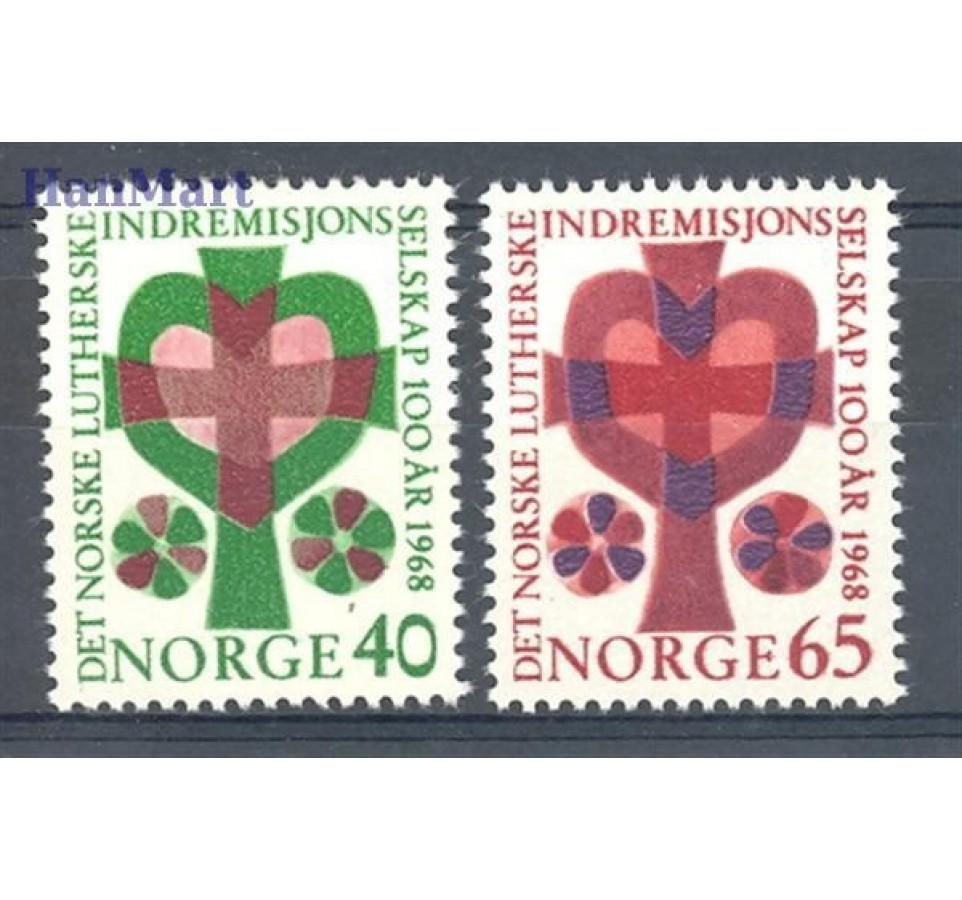 Norwegia 1968 Mi 570-571 Czyste **