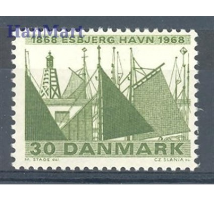 Znaczek Dania 1968 Mi 467 Czyste **