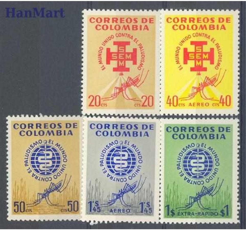 Kolumbia 1962 Mi 1009-1013 Czyste **