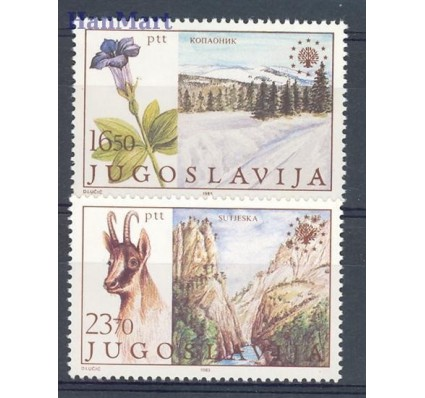 Znaczek Jugosławia 1983 Mi 2000-2001 Czyste **