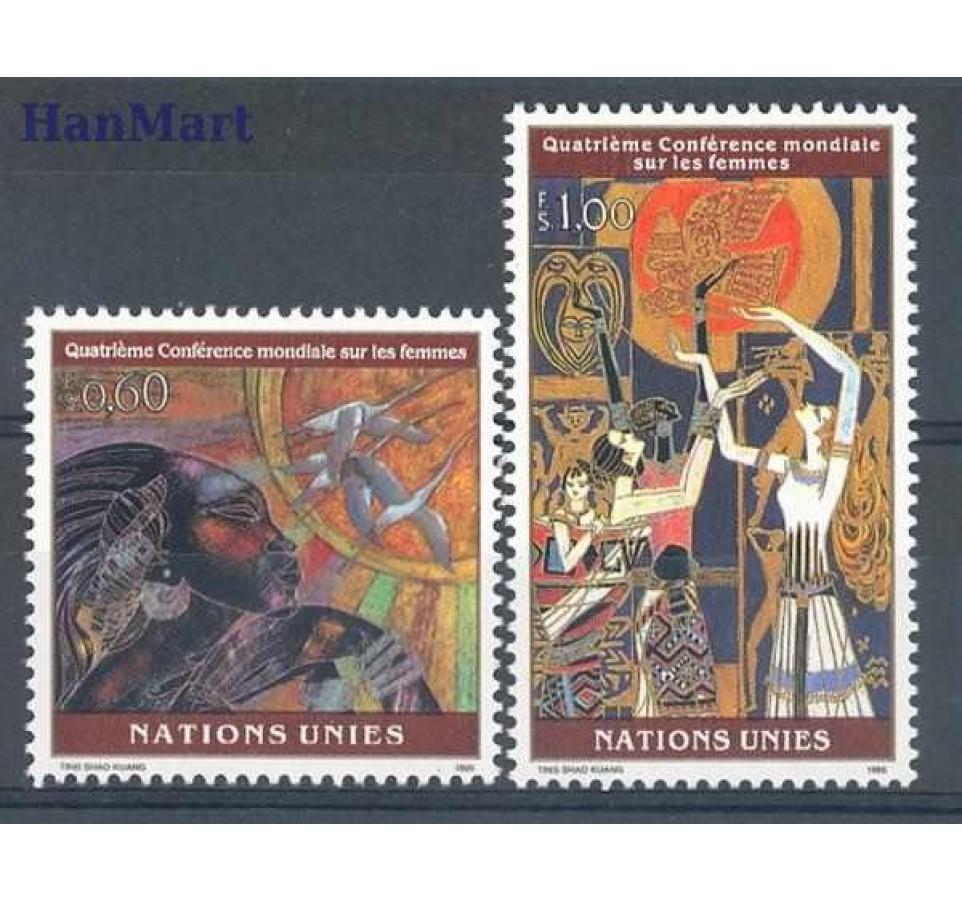 Narody Zjednoczone Genewa 1995 Mi 271-272 Czyste **