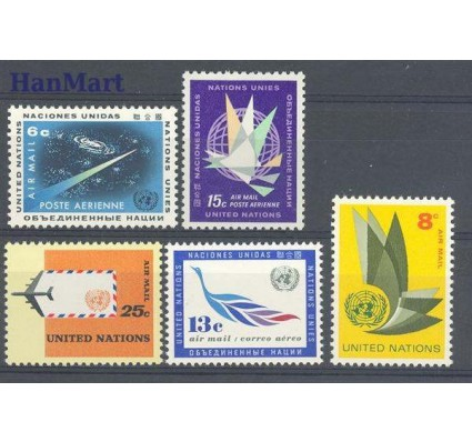 Znaczek Narody Zjednoczone Nowy Jork 1963 Mi 128-132 Czyste **