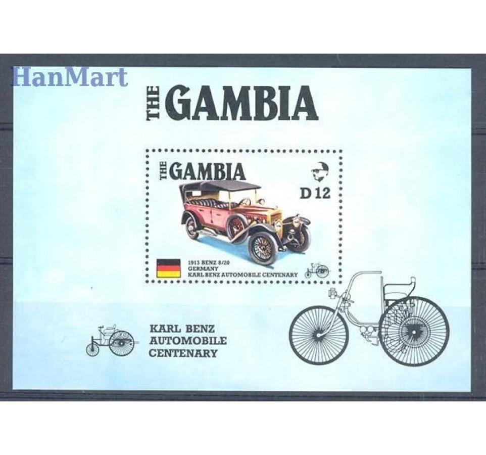 Gambia 1986 Mi bl 24 Czyste **