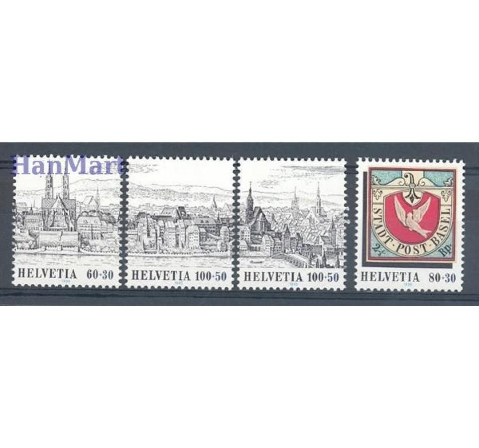 Szwajcaria 1995 Mi 1554-1557 Czyste **