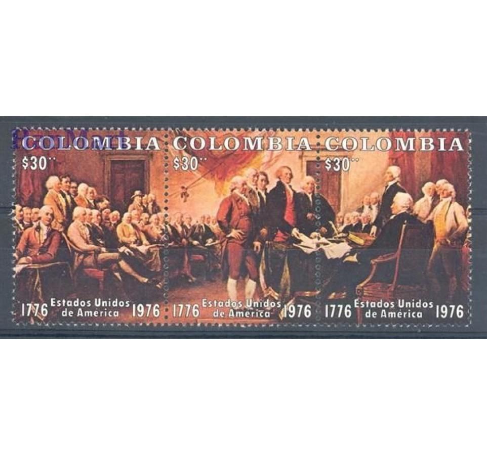 Kolumbia 1976 Mi 1317-1319 Czyste **