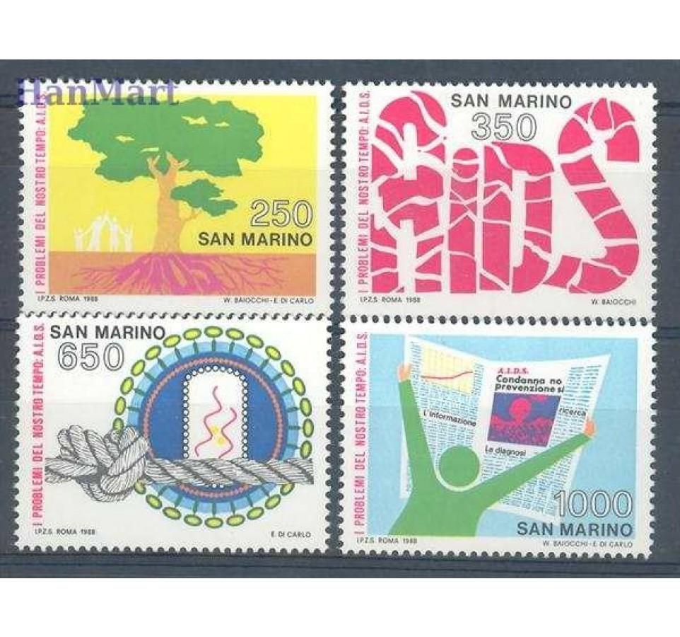 San Marino 1988 Mi 1395-1398 Czyste **