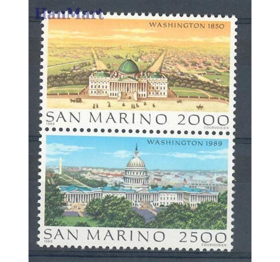 San Marino 1989 Mi 1430-1431 Czyste **