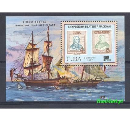 Znaczek Kuba 1987 Mi bl 97 Czyste **