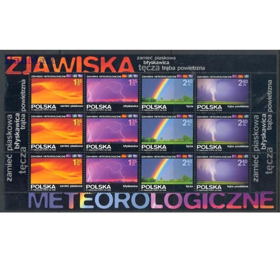 Polska 2008 Mi ark 4355-4358 Fi ark 4205-4208 Czyste **