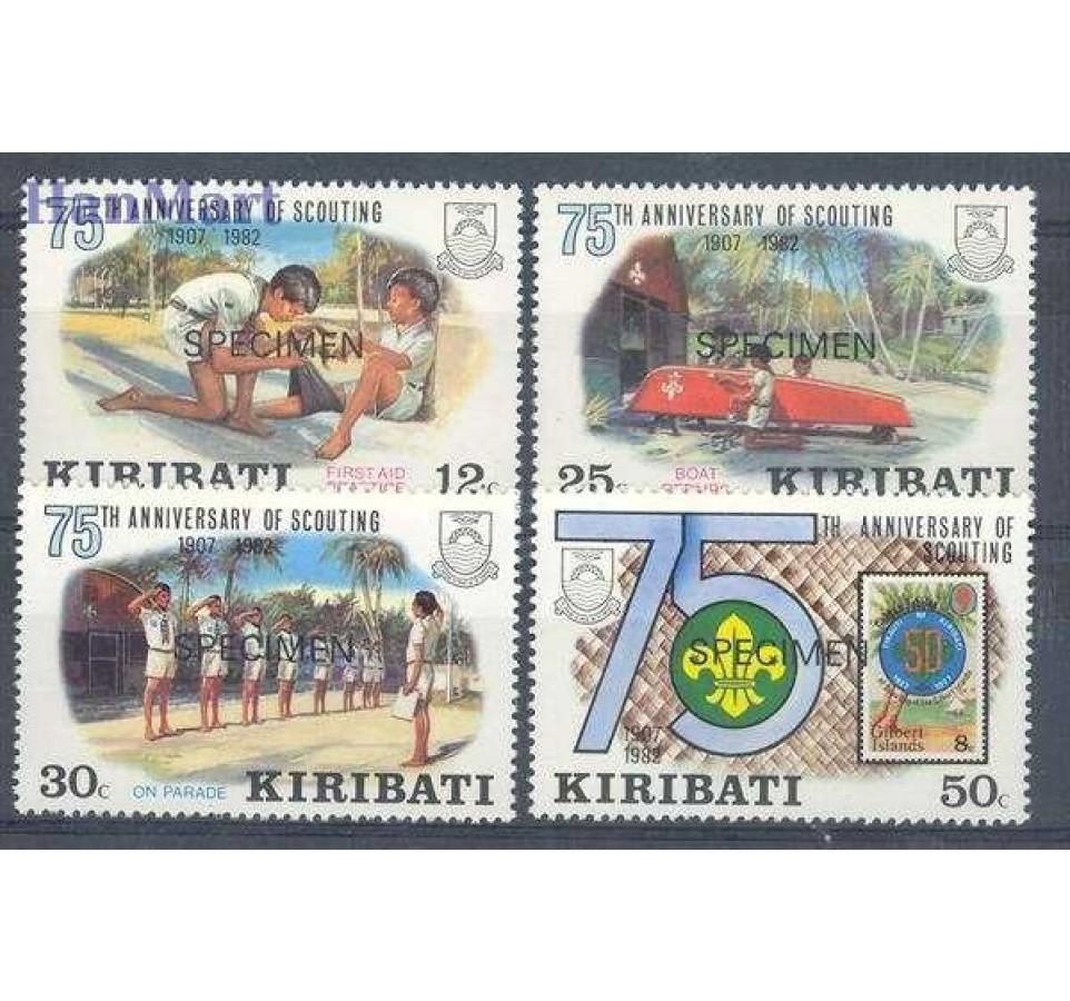 Kiribati 1982 Mi spe 408-411 Czyste **