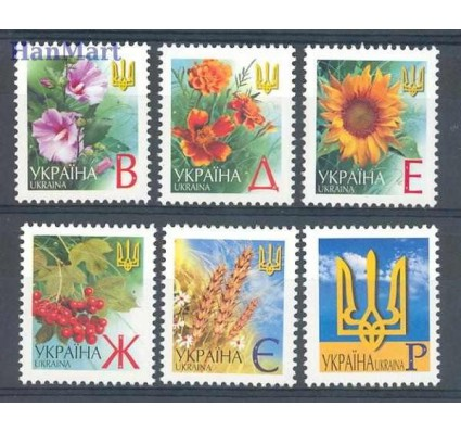 Ukraina 2001 Mi 433-438 Czyste **