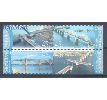 Ukraina 2004 Mi 662-665 Czyste **