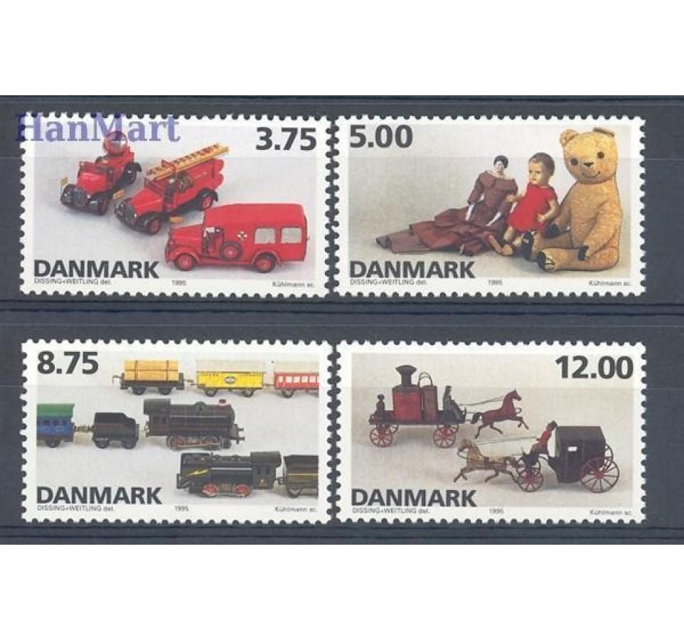 Dania 1995 Mi 1112-1115 Czyste **