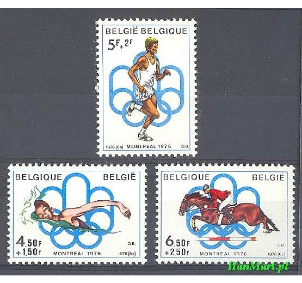 Belgia 1976 Mi 1852-1854 Czyste **