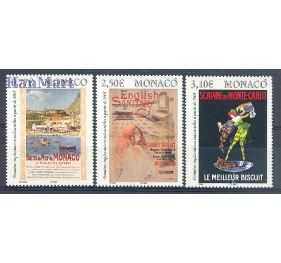 Monako 2005 Mi 2750-2752 Czyste **