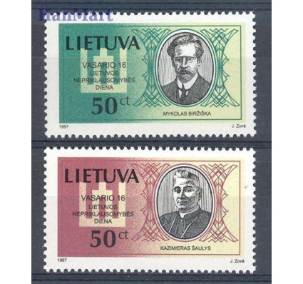 Znaczek Litwa 1997 Mi 632-633 Czyste **