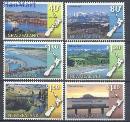Znaczek Nowa Zelandia 1997 Mi 1614-1619 Czyste **