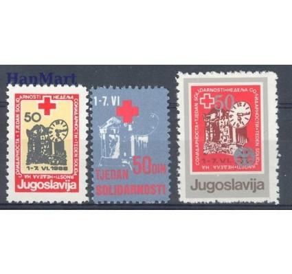 Jugosławia 1988 Mi zwa 155-157 Czyste **
