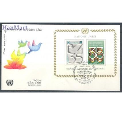 Znaczek Narody Zjednoczone Genewa 1980 Mi bl 2 FDC