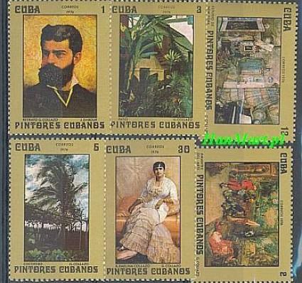 Znaczek Kuba 1976 Mi 2155-2160 Czyste **