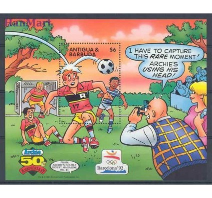 Znaczek Antigua i Barbuda 1991 Mi bl 213 Czyste **