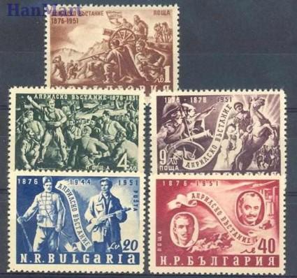Znaczek Bułgaria 1951 Mi 793-797 Czyste **
