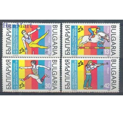 Bułgaria 1989 Mi 3767-3770 Czyste **