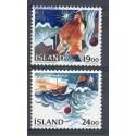 Islandia 1988 Mi 695-696 Czyste **