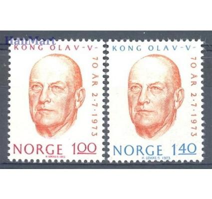 Znaczek Norwegia 1973 Mi 664-665 Czyste **