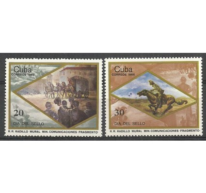 Znaczek Kuba 1986 Mi 3014-3015 Czyste **