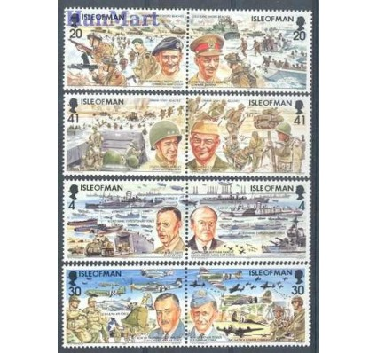 Znaczek Wyspa Man 1994 Mi 593-600I Czyste **