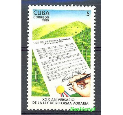 Znaczek Kuba 1989 Mi 3296 Czyste **