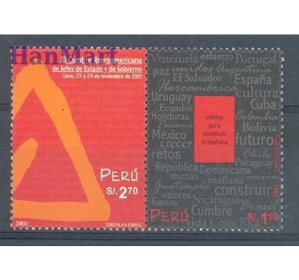 Znaczek Peru 2002 Mi 1788-1789 Czyste **