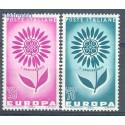 Włochy 1964 Mi 1164-1165 Czyste **
