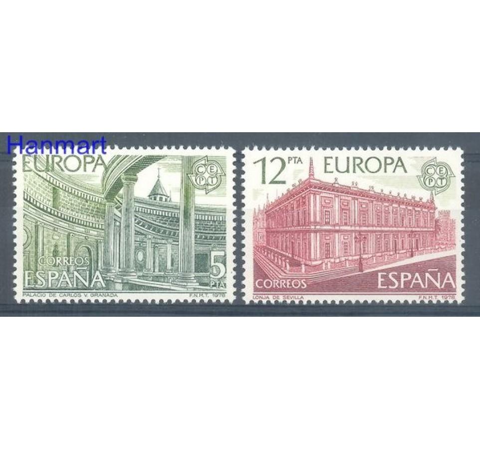 Hiszpania 1978 Mi 2366-2367 Czyste **