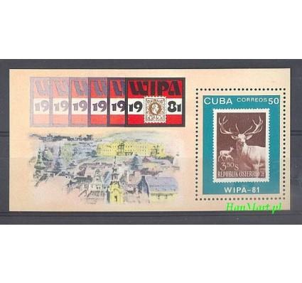 Znaczek Kuba 1981 Mi bl 67 Czyste **