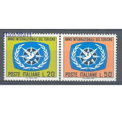 Włochy 1967 Mi 1243-1244 Czyste **