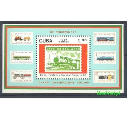 Znaczek Kuba 1989 Mi bl 115 Czyste **