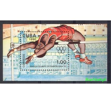 Znaczek Kuba 1990 Mi bl 118 Czyste **