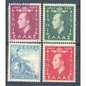 Grecja 1952 Mi 592-595 Czyste **