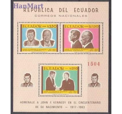 Znaczek Ekwador 1967 Mi bl 45 Czyste **