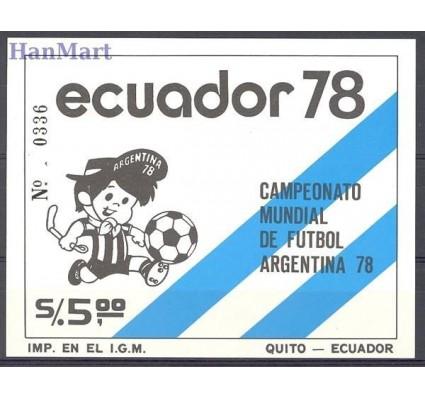 Znaczek Ekwador 1978 Mi bl 85 Czyste **