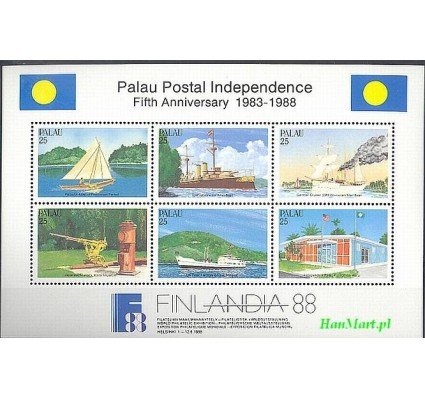 Znaczek Palau 1988 Mi bl 3 Czyste **