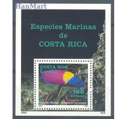 Znaczek Kostaryka 1994 Mi bl 14 Czyste **