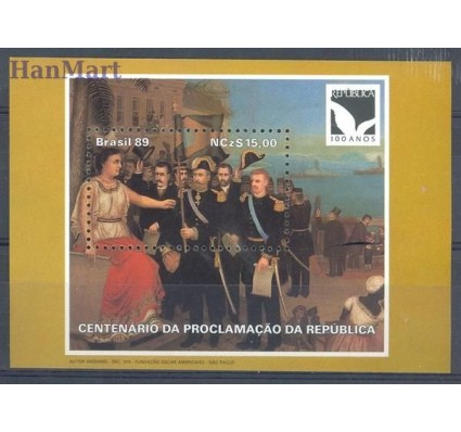 Znaczek Brazylia 1989 Mi bl 81 Czyste **
