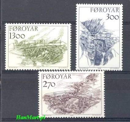 Wyspy Owcze 1986 Mi 142-144 Czyste **