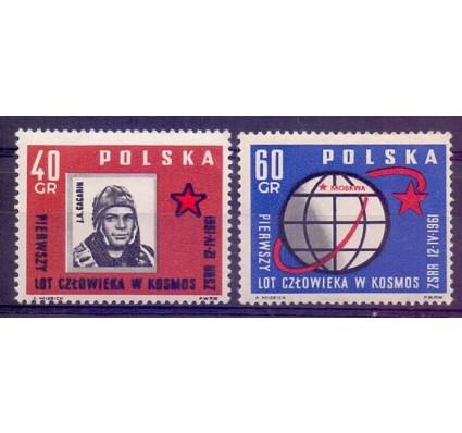 Znaczek Polska 1961 Mi 1226-1227 Fi 1082-1083 Czyste **