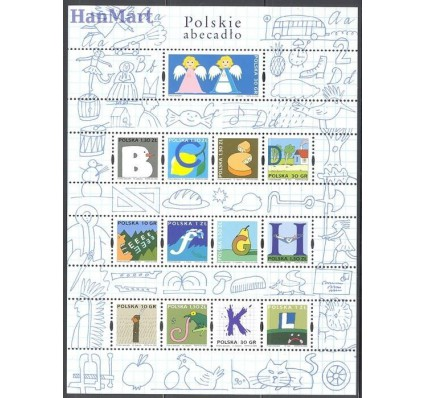Znaczek Polska 2006 Mi ark 4257-4269 Fi ark 4107-4119 Czyste **